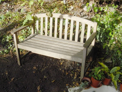 One fixed bench in the sun