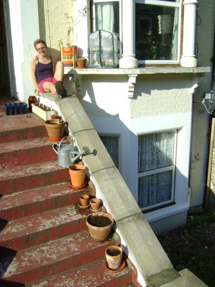Rachael on the stoop