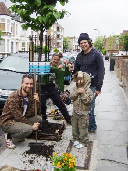 Farleigh Road street gardening